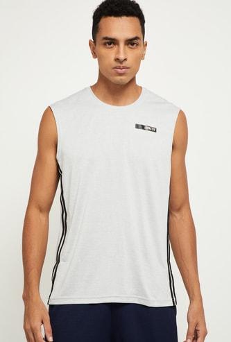 MAX Striped Sleeveless Crew Neck T-shirt