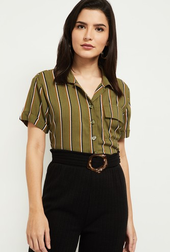 MAX Striped Shirt with Patch Pocket