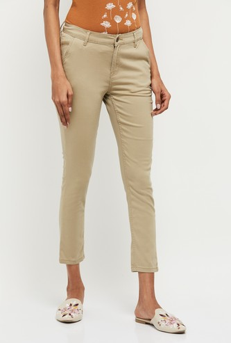 MAX Solid Ankle Length Pants