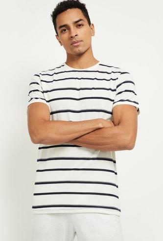 MAX Striped Crew Neck Lounge T-shirt