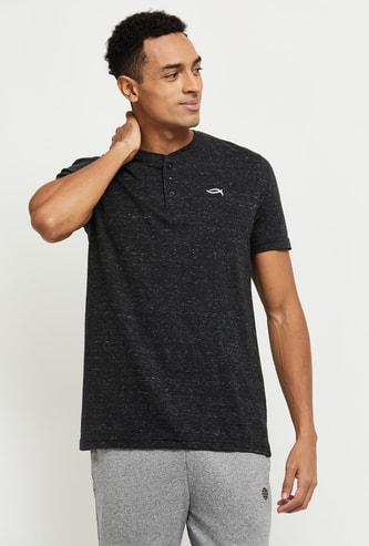 MAX Textured Henley Neck Lounge T-shirt