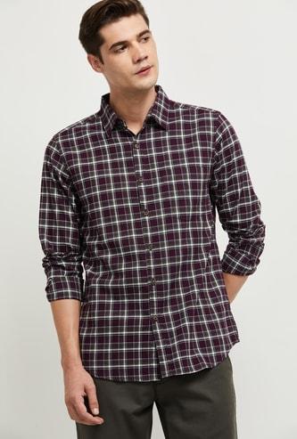 MAX Checked Full-Sleeves Casual Shirt