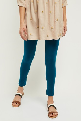 MAX Solid Leggings with Elasticated Waistband