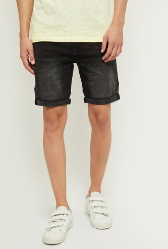 MAX Mid-Washed Denim Shorts