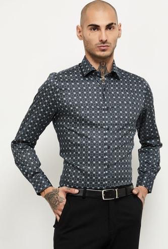 MAX Geometric Print Slim Fit Formal Shirt