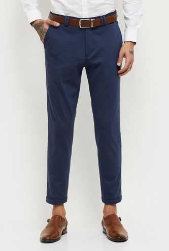 MAX Textured Carrot Fit Casual Trousers