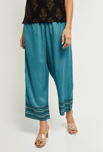 MAX Solid Palazzo Trousers