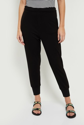 MAX Solid Elasticated Jogger Trousers