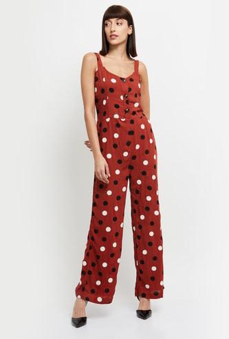 MAX Polka Dot Print Jumpsuit
