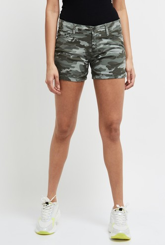 MAX Printed Denim Shorts