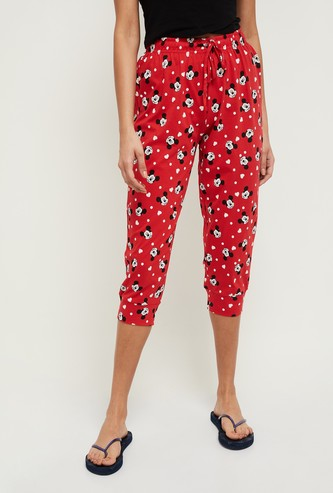 MAX Mickey Mouse Print Capris