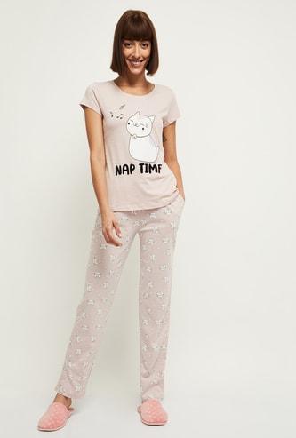 MAX Printed T-shirt and Pyjamas