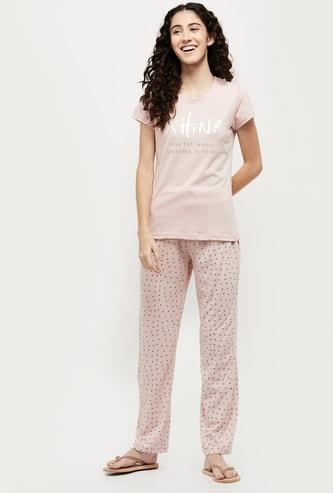 MAX Printed Short Sleeves T-shirt with Pyjamas