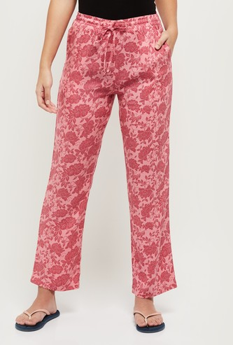 MAX Floral Printed Full-Length Lounge Pants