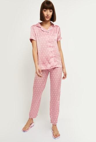 MAX Heart Print Lounge Shirt and Pyjamas