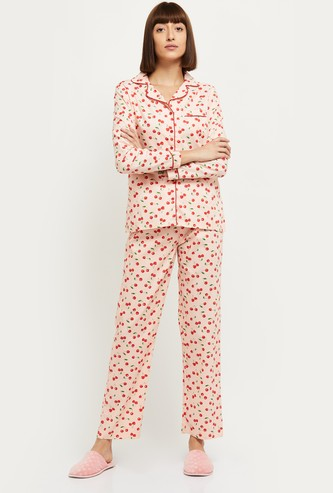 MAX Printed Lounge Shirt with Elasticated Pyjamas