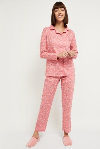 MAX Floral Printed Lounge Shirt with Pyjamas