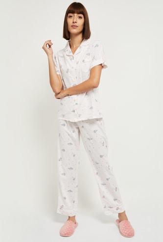 MAX Printed Lounge Shirt with Pyjamas