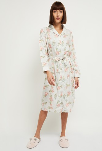 MAX Floral Print Shirt Style Chemise