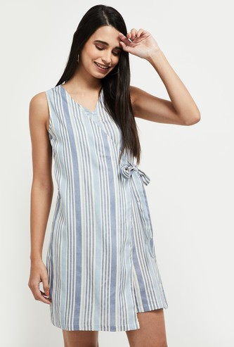 MAX Striped Wrapped Jumpsuit