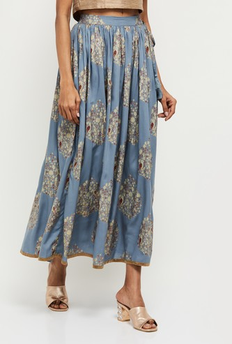 MAX Printed Elasticated Ethnic Skirt
