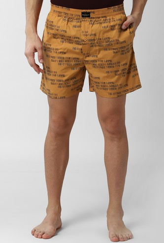 PETER ENGLAND Printed Elasticated Boxer Shorts