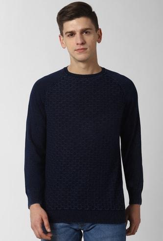 PETER ENGLAND Printed Crew Neck Sweater
