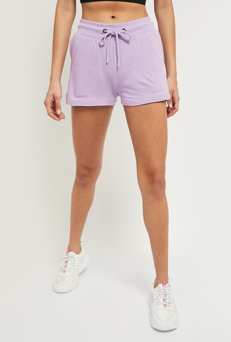 MAX Solid Elasticated Knitted Shorts