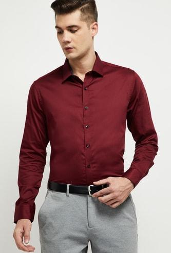MAX Solid Full Sleeves Slim Fit Formal Shirt
