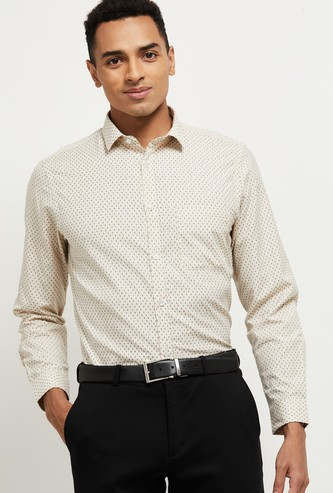 MAX Printed Full Sleeves Slim Fit Formal Shirt