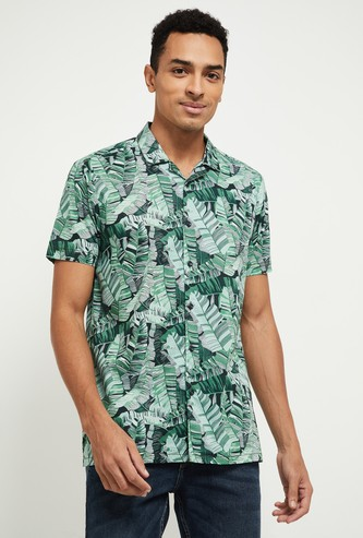 MAX Tropical Print Slim Fit Casual Shirt