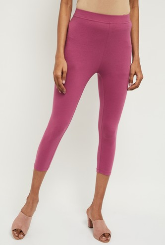 MAX Solid Elasticated Capri Leggings