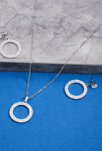 MAX Embellished Necklace and Earrings Set
