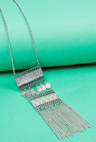 MAX Embellished Tassel Detail Necklace
