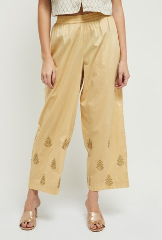 MAX Embroidered Woven Elasticated Pants