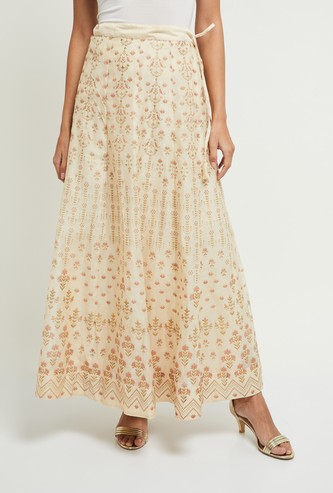 MAX Printed Elasticated A-line Skirt