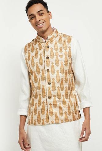 MAX Printed Nehru Jacket