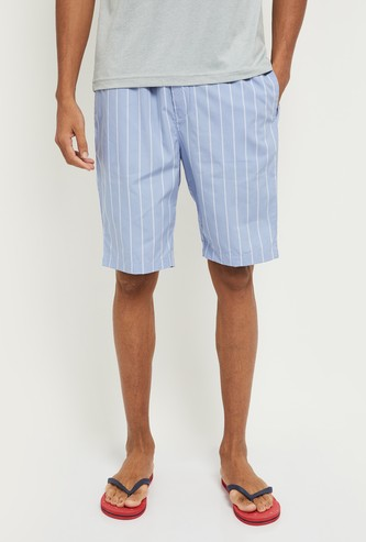 MAX Striped Woven Lounge Shorts