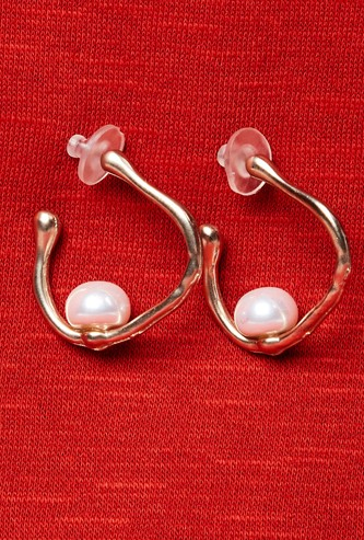MAX Embellished Hoop Earrings