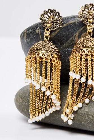 MAX Embellished Chandelier Earrings