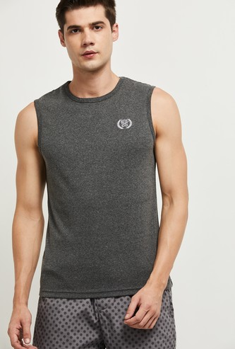 MAX Solid Sleeveless Lounge T-shirt