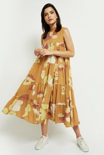 MAX Printed Sleeveless Maxi Dress