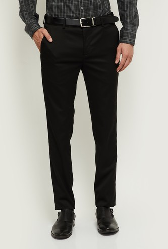 MAX Solid Ultra Slim Fit Formal Trousers