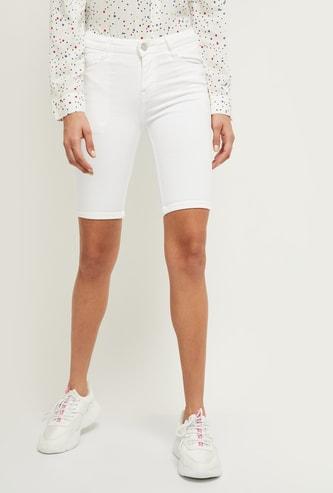 MAX Solid Denim Shorts