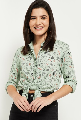 MAX Printed Collared Shirt