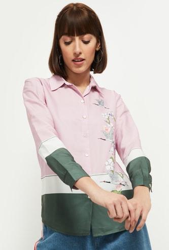 MAX Floral Printed Full Sleeves Casual Shirt