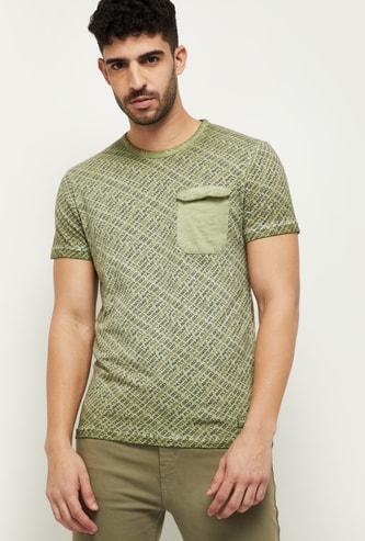 MAX Printed Ultra Slim Fit Crew Neck T-shirt