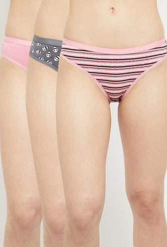 MAX Printed Elasticated Bikini Panties - Pack of 3