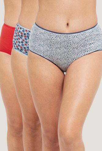MAX Printed Hipster Panties- Pack of 3