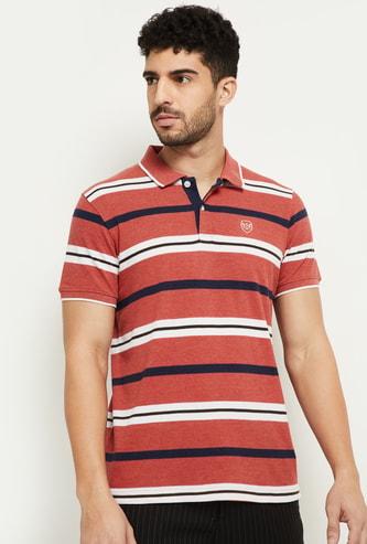 MAX Colourblock Regular Fit Polo T-shirt